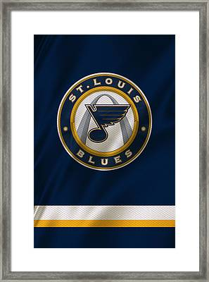 St Louis Blues Uniform Framed Print by Joe Hamilton