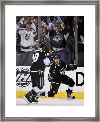St Louis Blues V Los Angeles Kings - Framed Print by Harry How
