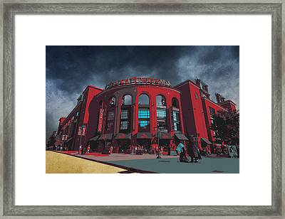 St. Louis Busch Stadium Cardinals 9162 Art Framed Print