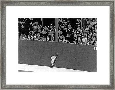 St. Louis Cardinal Curt Flood Framed Print by Underwood Archives