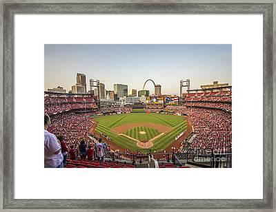 St. Louis Cardinals National Anthem Framed Print by David Haskett