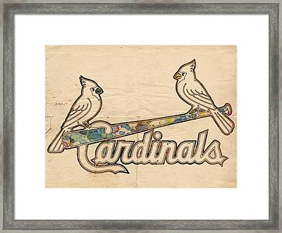 St Louis Cardinals Poster Art Framed Print by Florian Rodarte