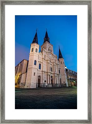 St. Louis Cathedral At Twilight Framed Print