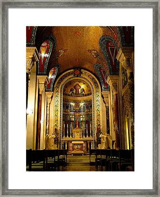 St Louis Cathedral Basilica Framed Print by Cindy Croal