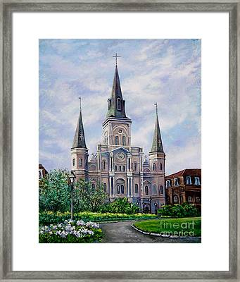 St. Louis Cathedral Framed Print by Dianne Parks