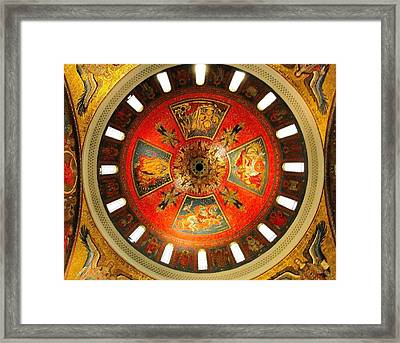 St. Louis Cathedral Dome Framed Print by Cindy Croal
