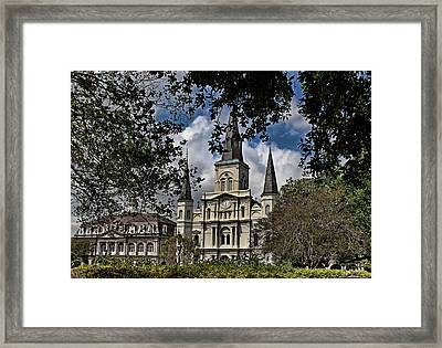 St. Louis Cathedral Framed Print by Judy Vincent