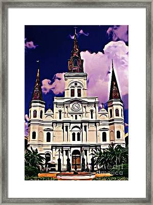St Louis Cathedral In New Orleans Framed Print