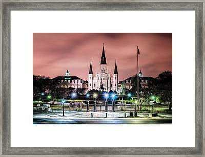 St. Louis Cathedral In The Morning Framed Print