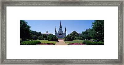 St Louis Cathedral Jackson Square New Framed Print by Panoramic Images