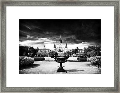 St. Louis Cathedral Framed Print by John Rizzuto