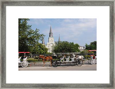 Framed Print featuring the photograph St Louis Cathedral by Robert  Moss