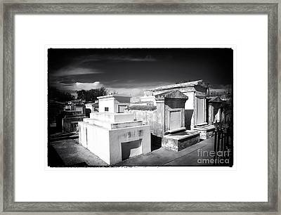 St. Louis Cemetery #1 Framed Print by John Rizzuto
