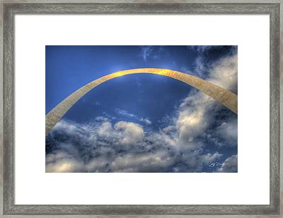 St. Louis Gateway Arch On The Fourth Of July Framed Print by Ed Cilley