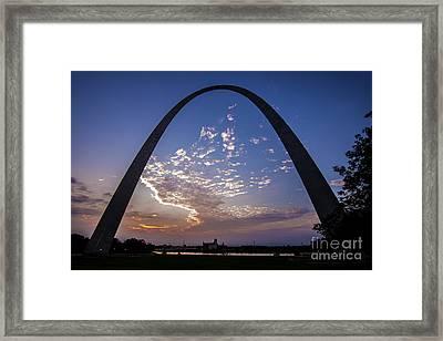 St. Louis Gateway Arch Sunrise  8895 Framed Print