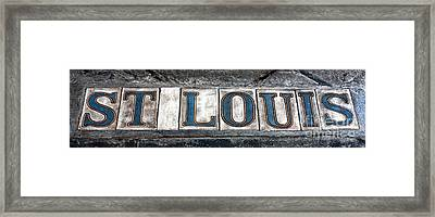 St. Louis Framed Print by John Rizzuto