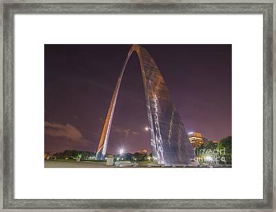 St. Louis Missouri Gateway Arch Night 9422 Framed Print