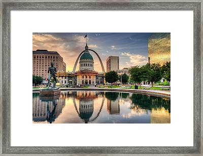 St. Louis Morning Reflections Framed Print by Gregory Ballos