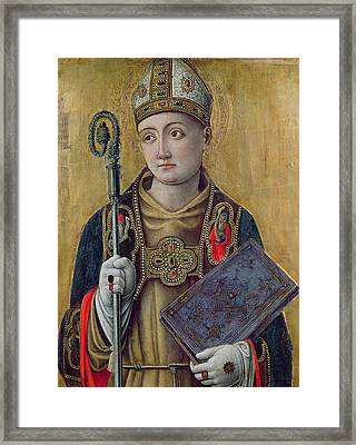 St. Louis Of Toulouse Framed Print by Bartolomeo Vivarini