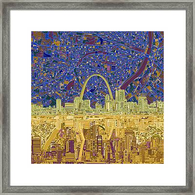 St Louis Skyline Abstract 9 Framed Print