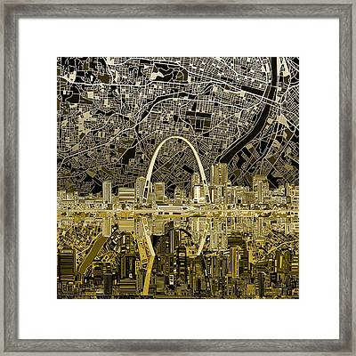 St Louis Skyline Abstract Framed Print