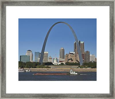 St Louis Skyline Framed Print by Garry McMichael