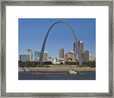 St Louis Skyline Framed Print