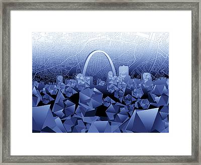 St Louis Skyline Geometric2 Framed Print