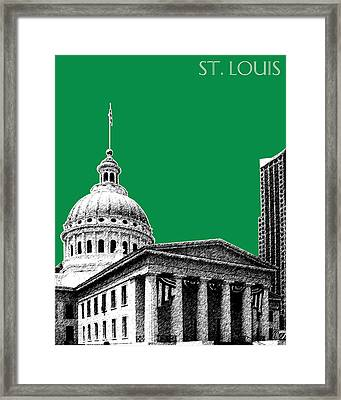 St Louis Skyline Old Courthouse - Forest Framed Print