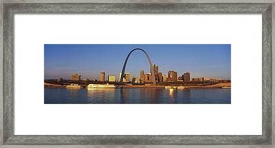 St. Louis Skyline Framed Print by Panoramic Images
