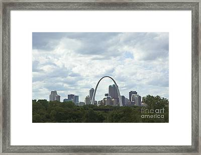 St. Louis Skyline Two Framed Print by Kay Pickens