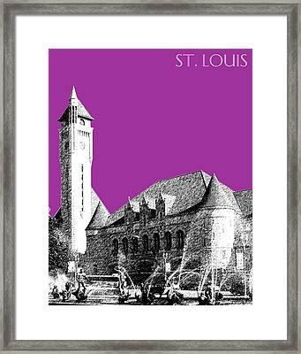 St Louis Skyline Union Station - Plum Framed Print by DB Artist