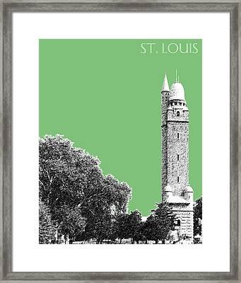 St Louis Skyline Water Tower - Apple Framed Print