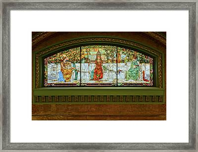 St Louis Union Station Allegorical Window Framed Print by Greg Kluempers