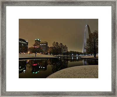 St. Louis - Winter At The Arch 005 Framed Print