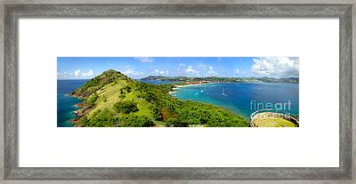 St Lucia - Rodney Bay Panorama - 01 Framed Print