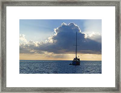 St. Lucia - Cruise - Sailboat Framed Print by Nora Boghossian