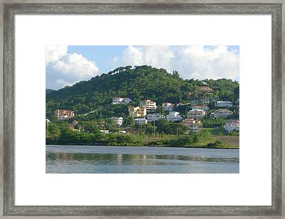 St. Lucia - Cruise View  Framed Print by Nora Boghossian