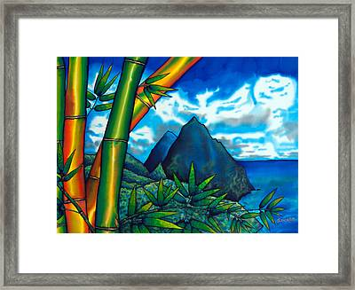 St. Lucia Pitons Framed Print by Daniel Jean-Baptiste