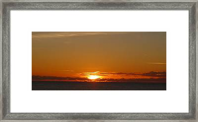 St. Lucia - Sunset Framed Print by Nora Boghossian