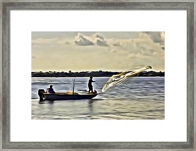 St Lucie Fishermen Framed Print by Patrick M Lynch