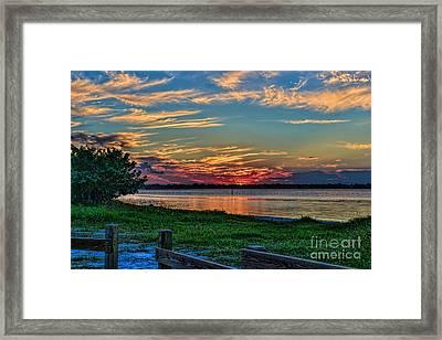 St Lucie River Sunset Framed Print
