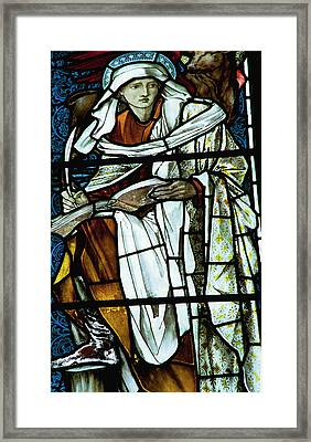 St Luke In Stained Glass Framed Print by Philip Ralley