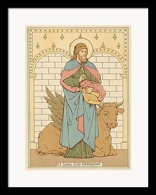 Saint Luke The Evangelist Drawings Framed Prints