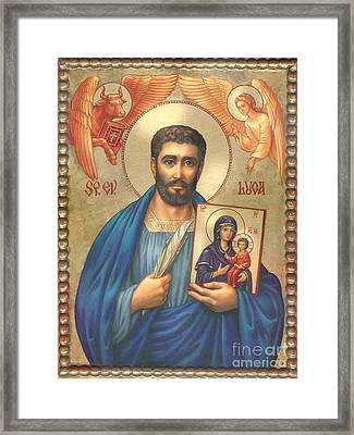 St. Luke Framed Print by Zorina Baldescu