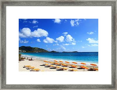St. Maarten Calm Sea Framed Print