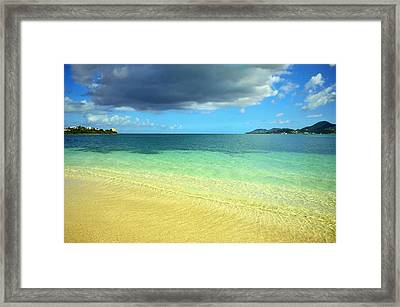 St. Maarten Tropical Paradise Framed Print