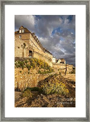 St Malo Brittany France Framed Print by Colin and Linda McKie