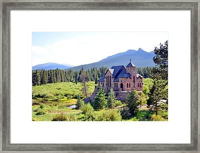 St. Malo Chapel On The Rock Framed Print
