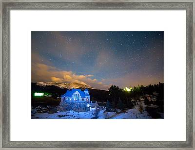 St Malos Chapel On The Rocks Starry Night View  Framed Print by James BO  Insogna